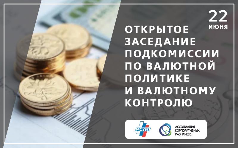 Заседание Подкомиссии по валютной политике и валютному контролю РСПП
